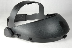 Adjustable headgear for the Paulson Mfg. faceshield