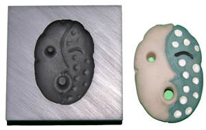 Blue/Green Mask Push Mold